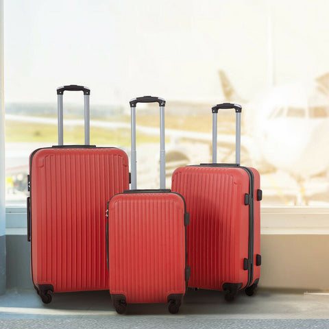 NEW 3 PCS Set Premium Travel Bags Luggage Suitcase Trolley (Flying, Traveling, Luxury, Vacation) - Exotic Blings