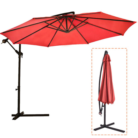 Premium Patio Umbrella (Adjustable, Outdoor, High Quality, Offset Hanging, Size 10') - Exotic Blings