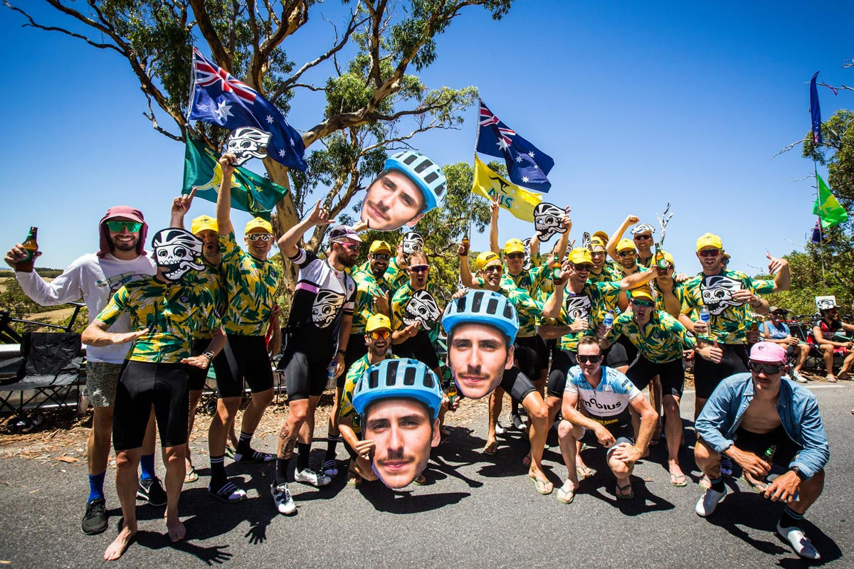 Willunga Hill day at The Tour Down Under with Attaquer