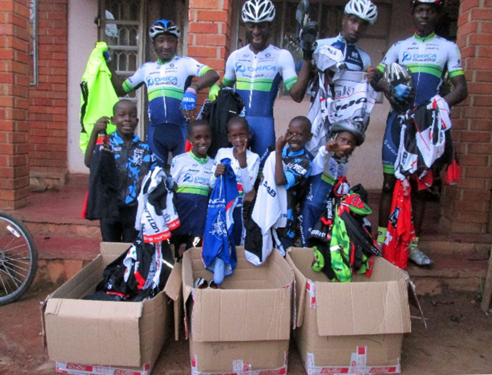 Deliveries from the Africa Kit Appeal are always warmly received.