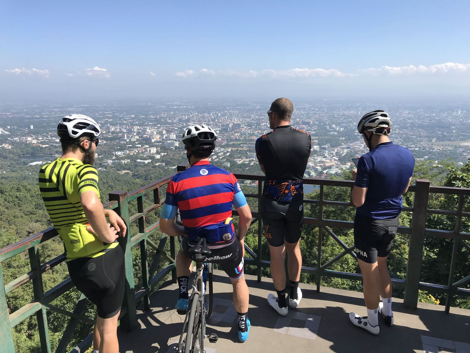 Went for a few extras up to the Doi Suthep lookout – the term dad pace is born