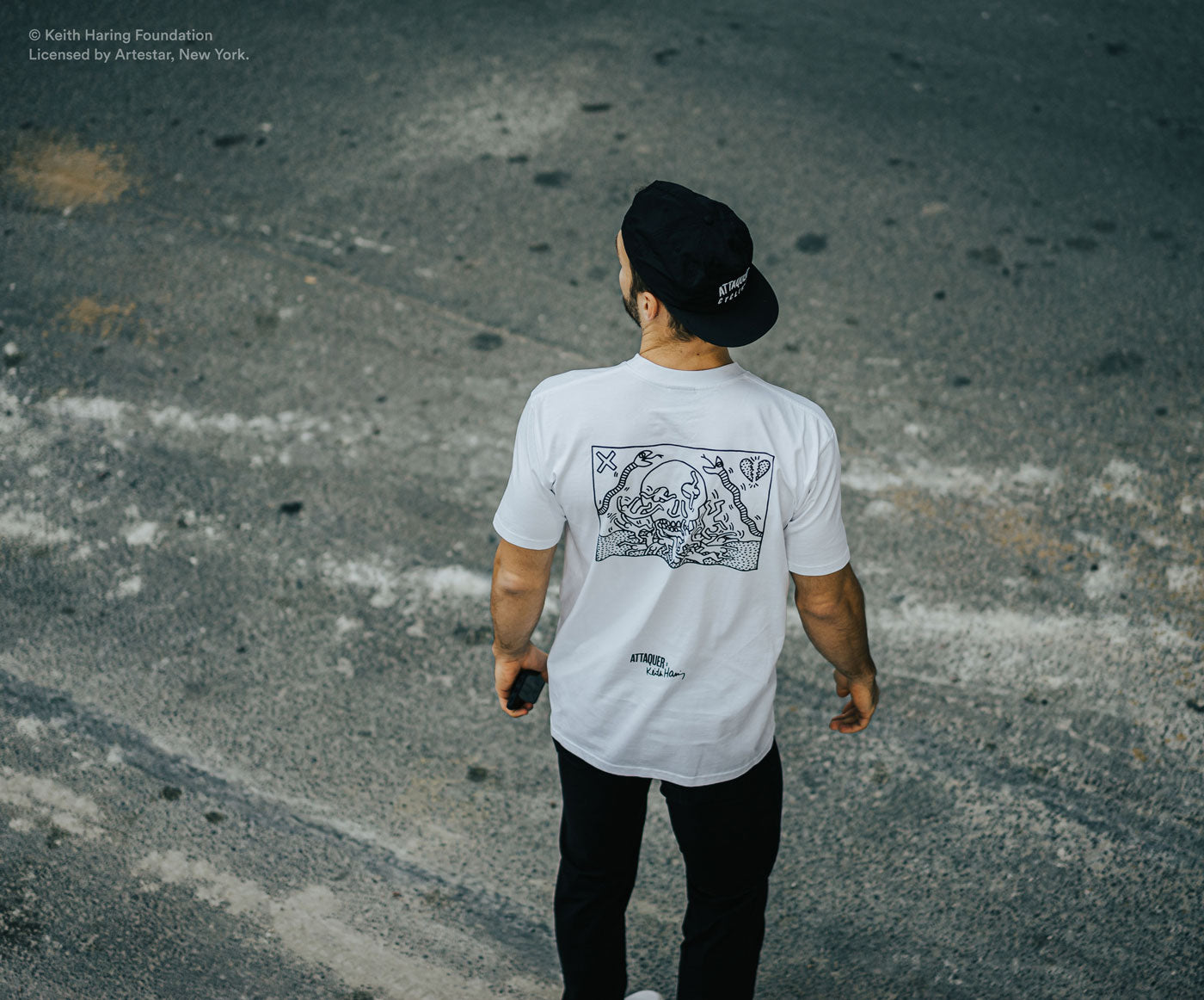 Attaquer X Keith haring T-Shirt Skull