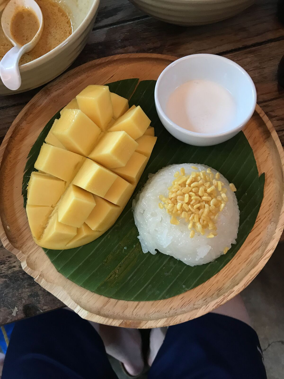 Caption: mango sticky rice, you can never have too much of it. Available on every street corner and consumed at a minimum of 2 times a day. Essential.