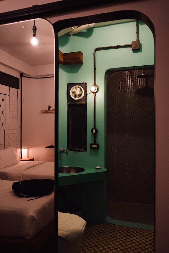 Quirky upcycle hotel rooms