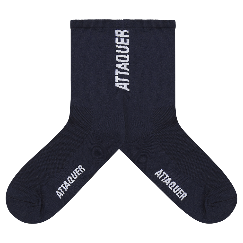 Attaquer Socks Vertical Navy main