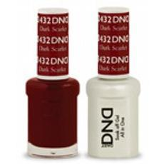DND GEL 432 Dark Scarlet 2/Pack-Nail Supply UK