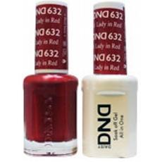 DND GEL 632 Lady in Red 2/Pack-Nail Supply UK