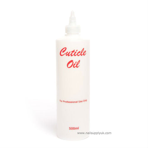 Cuticle Oil Empty Plastic 500ml-Nail Supply UK