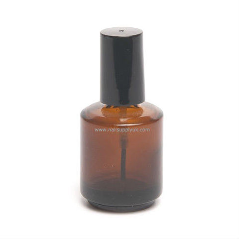 Empty Glass Bottle - Brown 0.5oz
