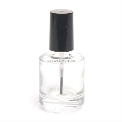 Empty Glass Bottle - Clear 0.5oz-Nail Supply UK