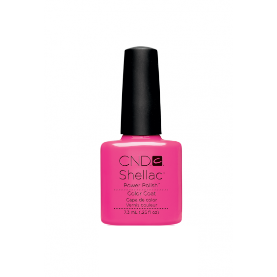 CND Shellac Hot Pop Pink-Nail Supply UK