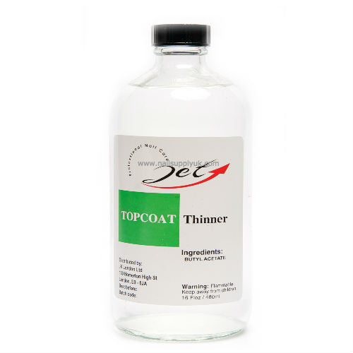 Jet Topcoat Thinner Economy 16oz-Nail Supply UK