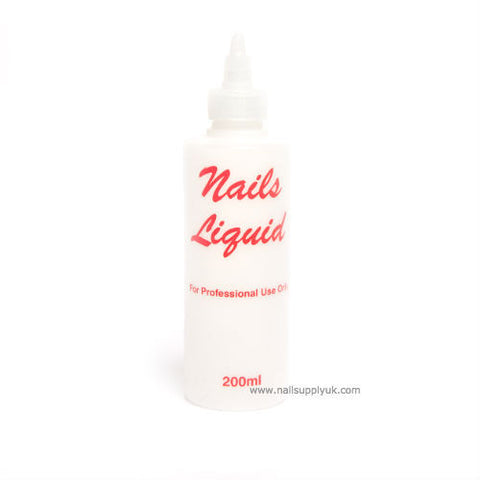 Liquid Empty Plastic 200ml-Nail Supply UK