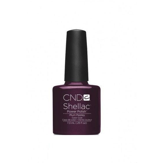 CND Shellac Plum Paisley-Nail Supply UK