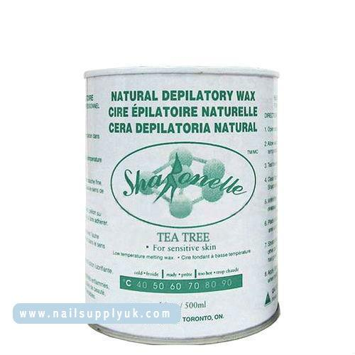 Sharonelle Tea Tree Natural Depilatory Soft Wax 18oz-Nail Supply UK
