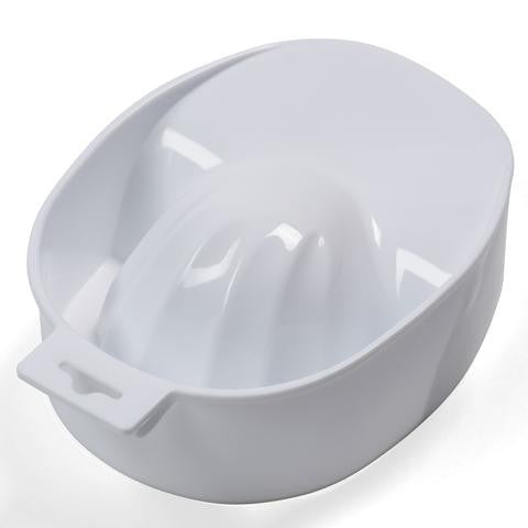White Manicure Dish /Bowl-Nail Supply UK