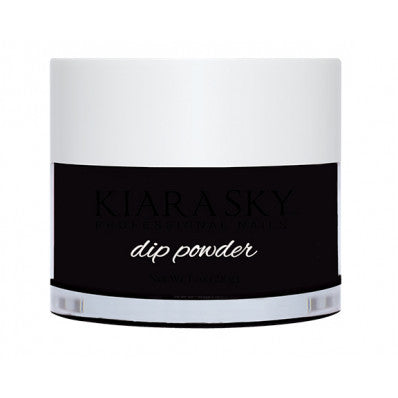 kiara-sky-acrylic-dip-powder-black-to-black-28g-1oz-Nail Supply UK