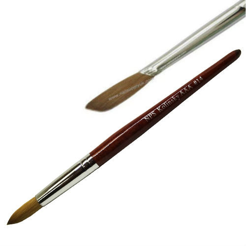 Flat NPS Kolinsky AAA Acrylic Brush #14-Nail Supply UK