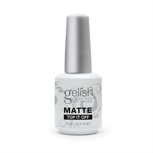 gelish gel nail matte top-it-off 15ml-Nail Supply UK