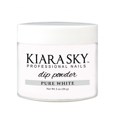 KIARA SKY DIP POWDER - PURE WHITE 2OZ-Nail Supply UK