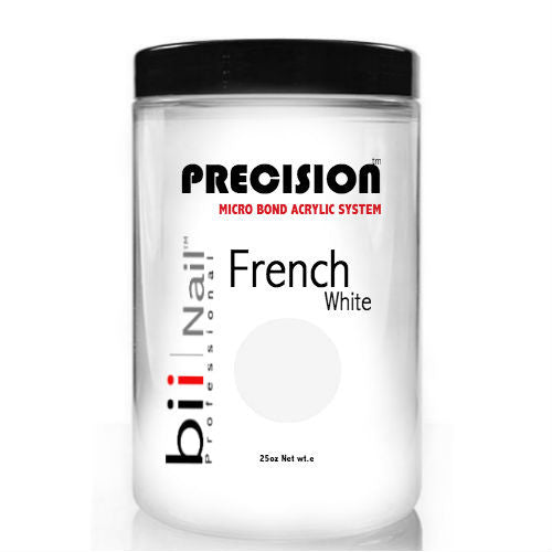 bii French White Acrylic Powder 25oz-Nail Supply UK