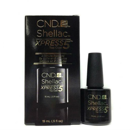 CND Shellac XPRESS5 Top Coat 15ml-Nail Supply UK