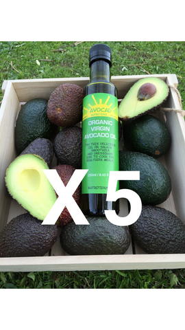 5 x Organic Virgin Avocado Oil