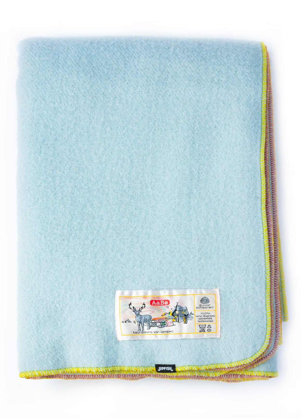 JIPFISH X AABE Lambswool Kids Blanket - FROSTY BLUE