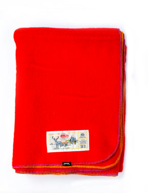 JIPFISH X AABE Lambswool Kids Blanket - TOMATO RED