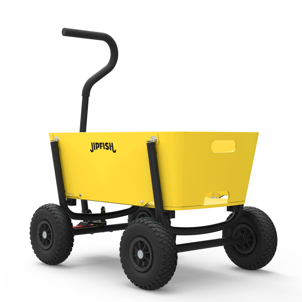 Jipfish Kids Wagon - School Bus Yellow