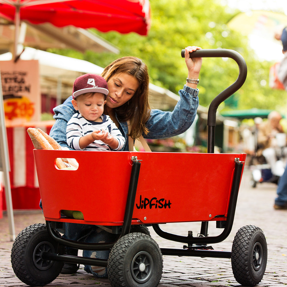 Coming Kids Jip.Jipfish Kids Wagon Bright Red Jipfish Kids Wagons