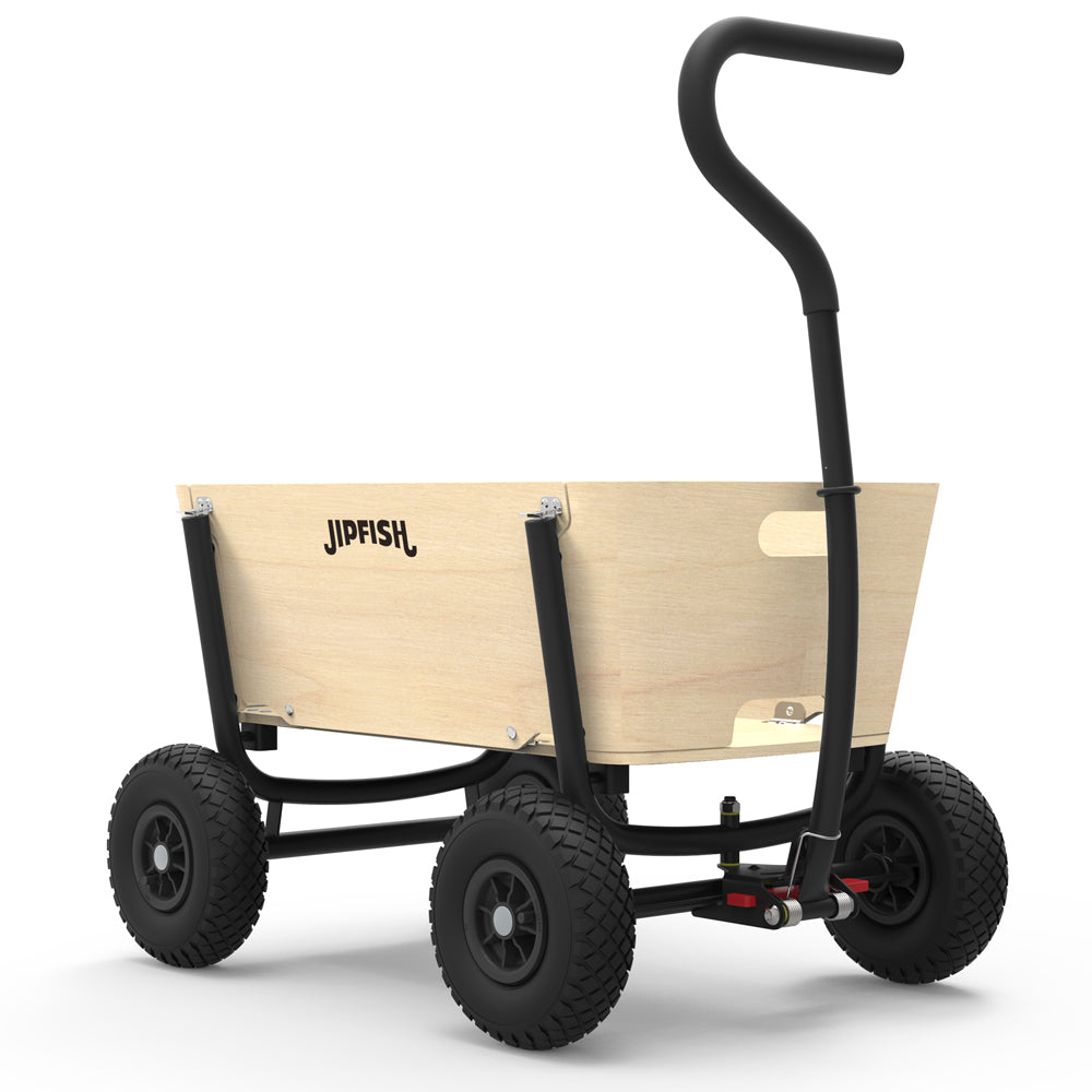 Jipfish Kids Wagon - Natural Wood - Black frame