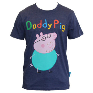 EXCLUSIVE Peppa Pig World Navy Daddy Pig Tee