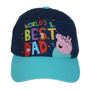 "NEW & EXCLUSIVE Peppa Pig World ""World's Best Dad"" Cap"
