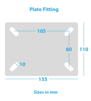 Plate-fitting-for-heavy-duty-castor