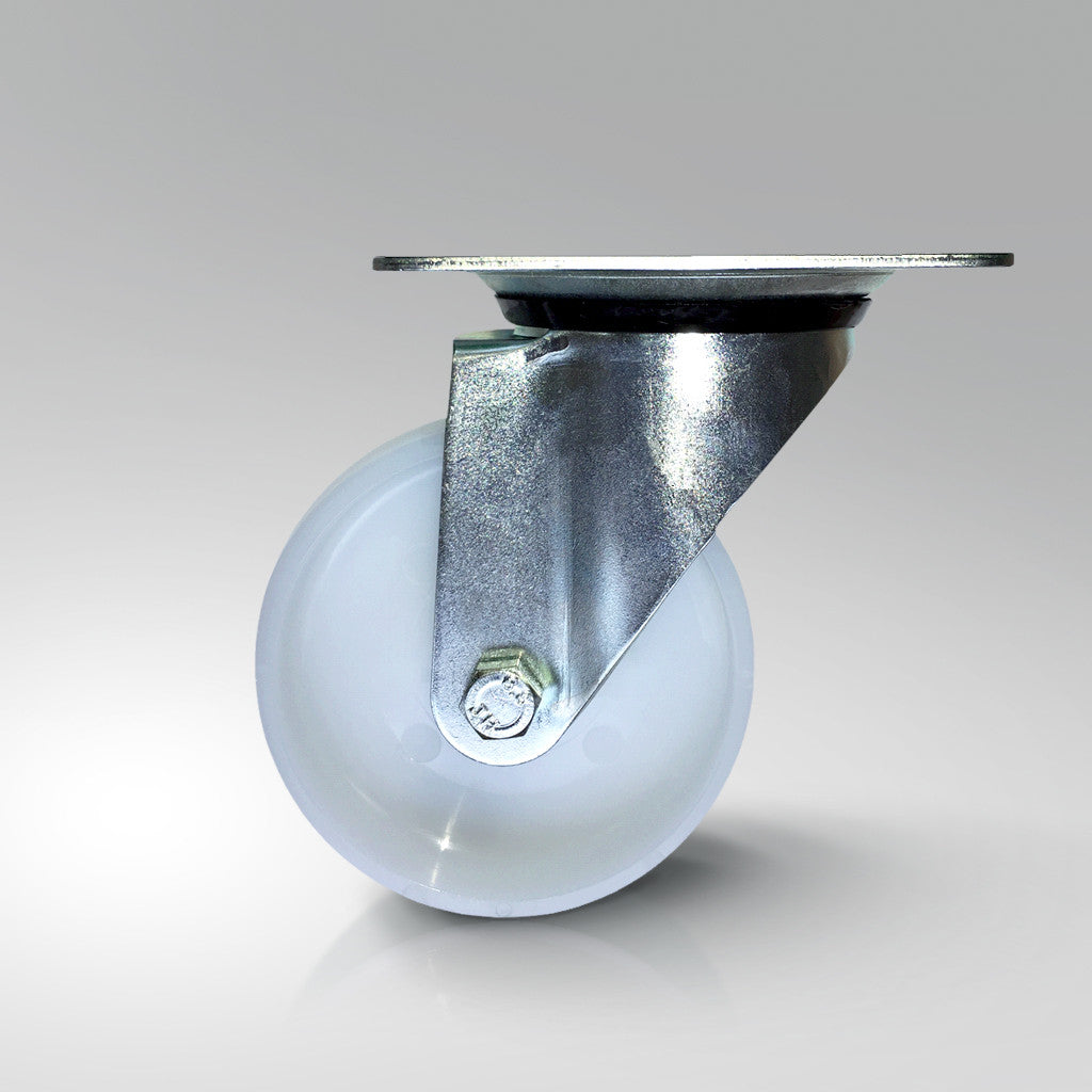 Stainless Steel Castors - Nylon Wheels - Swivel/Fixed/Braked