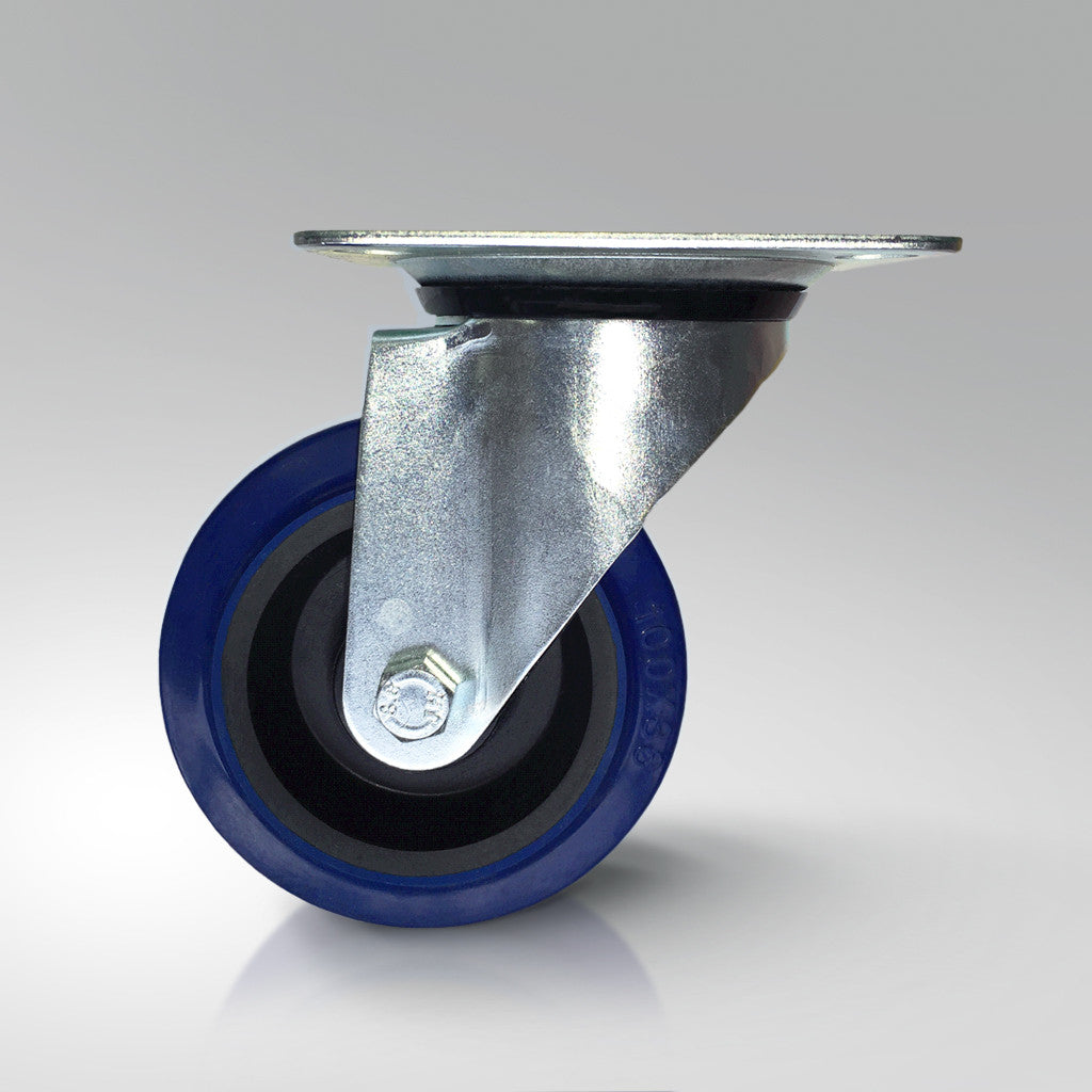 Stainless Steel Castors - Rubber Wheels - Swivel/Fixed/Braked