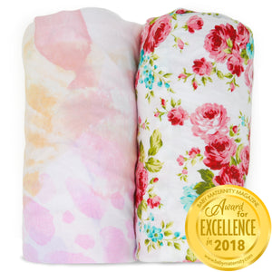 Changing Pad Covers | Fitted | 2-Pack | Fleur