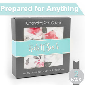 Changing Pad Covers | Fitted | 2-Pack | Petal