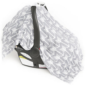 Muslin Carseat Canopy - Arrows