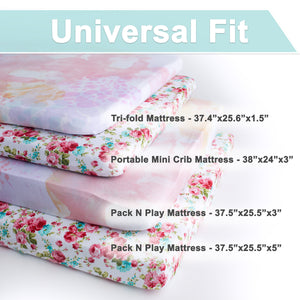 Playard Sheets | Fitted | Jersey Cotton | 2-Pack | Fleur