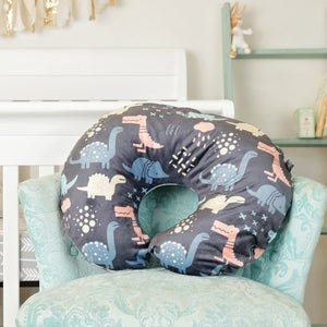 Minky Nursing Pillow Cover | Dinosaurs Pattern Slipcover