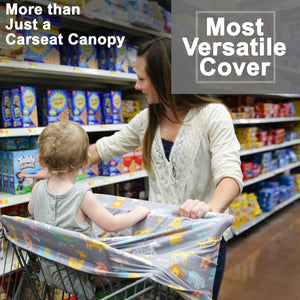 Stretchy Multi-use Car Seat Canopy + Nursing Cover + Shopping Cart Cover in Jungle Print