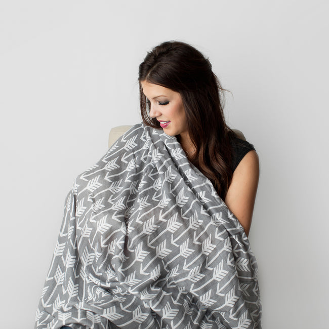 Our swaddle blanket can be use as nursing cover
