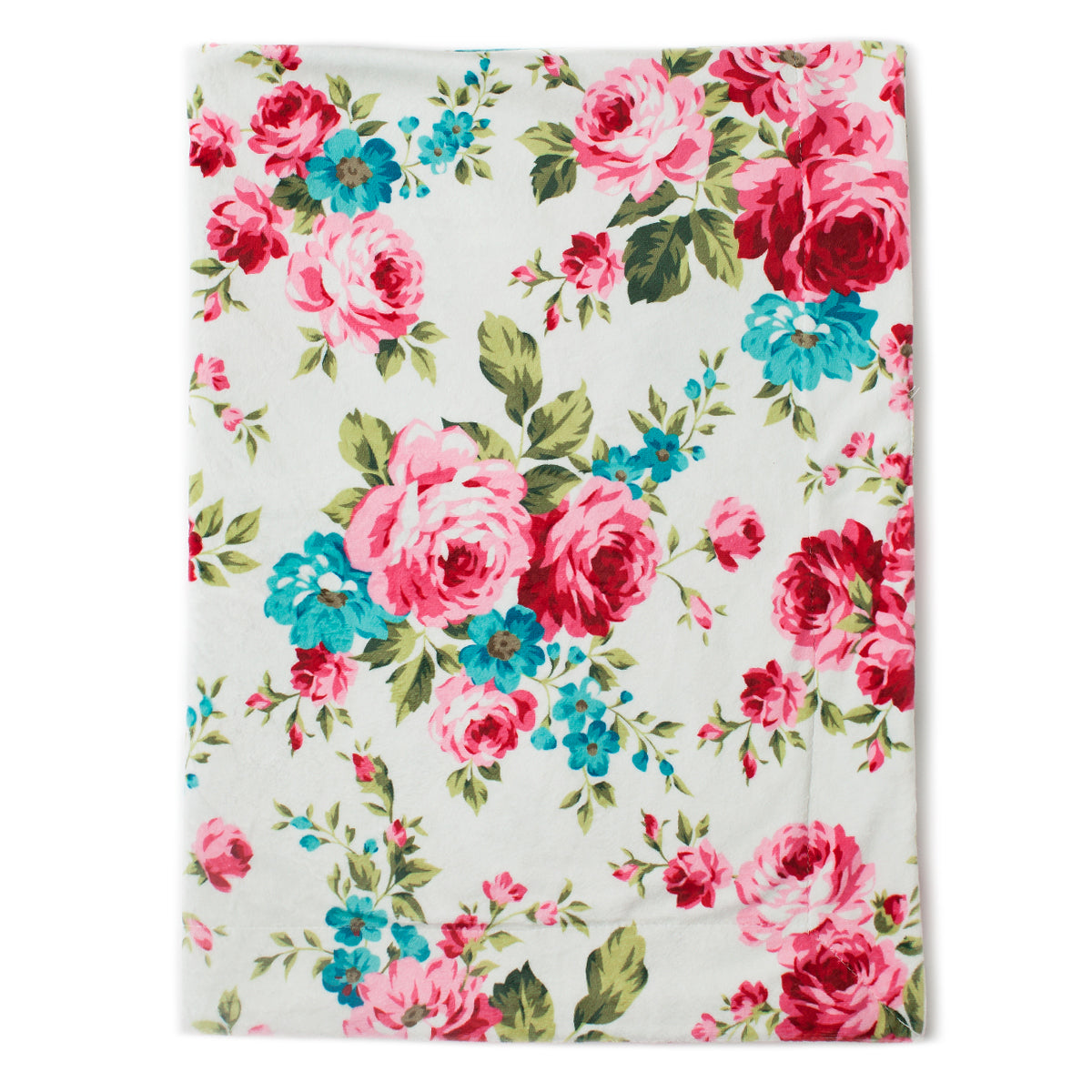 Minky Baby Blanket 30 Quot X 40 Quot White Floral Pattern Kids