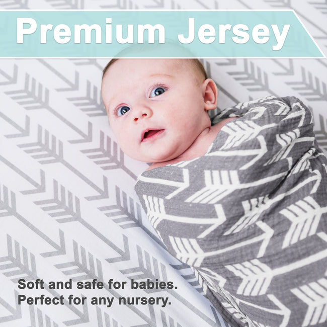 Bassinet bedding is made in premium jersey