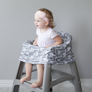 Stretchy Multi-use Car Seat Canopy + Nursing Cover + Shopping Cart Cover in Arrow Print