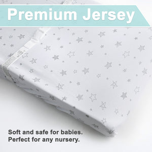 Changing Pad Covers | Fitted | Jersey Cotton | 2-Pack | Arrows & Stars