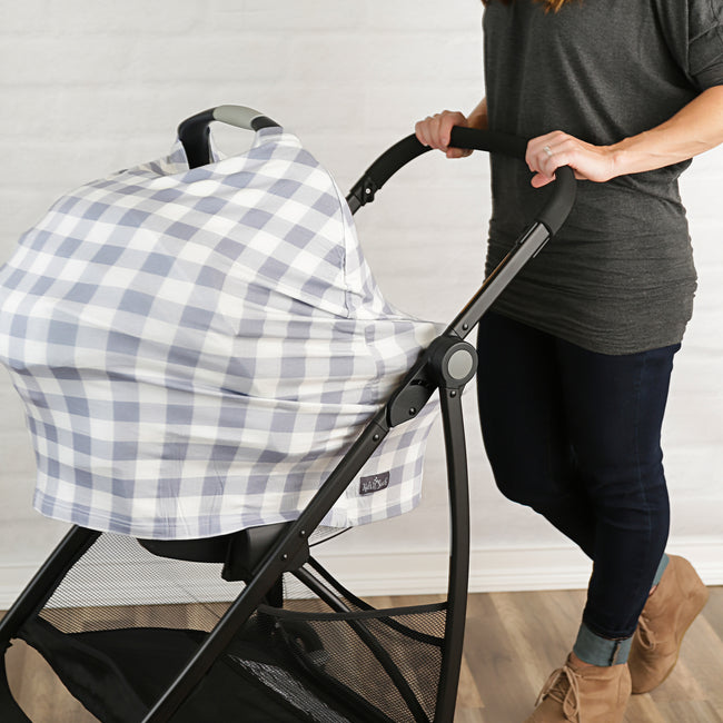 Plaid Nursing Canopy Cover