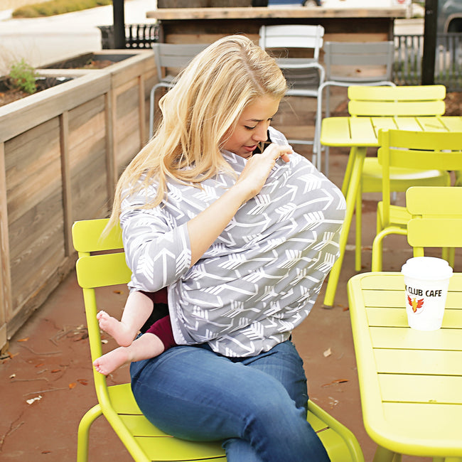 Our stretchy cart seat cover can be use as nursing blanket